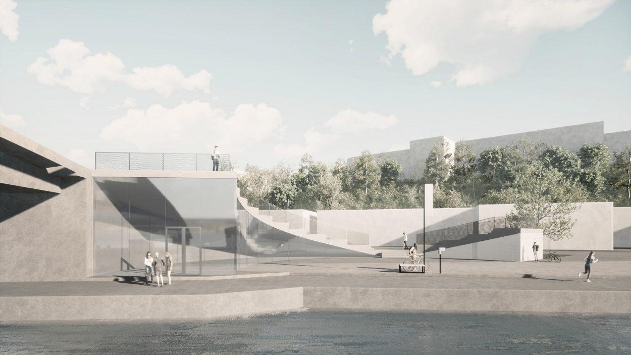 Namur au fil de l'eau avant projet Floreffe 2